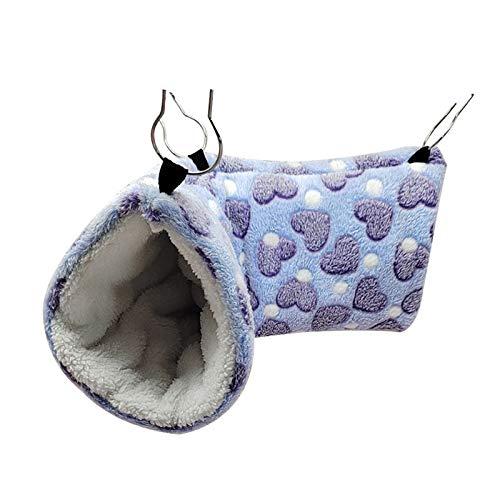 jwj Hamaca para mascotas colgante túnel hámster azucarero hamaca columpio jaula cama para dormir casa para animales pequeños Chinchilla hurón ardilla rata mascota perro hamaca (color: HPL)
