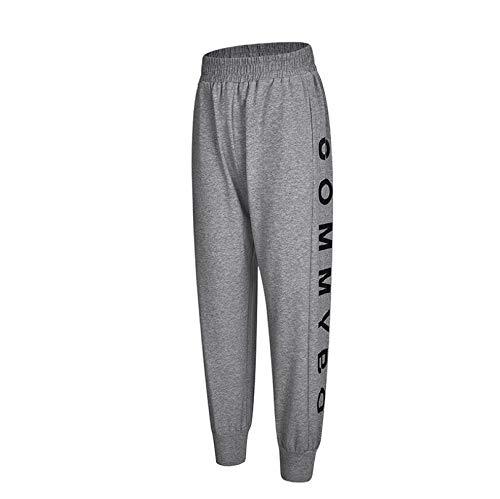WXFC yogabroek voor dames, joggingbroek, fitness, outdoor, joggingbroek, groot, yoga, losse broek, poeder/grijs/zwart, S - XXL