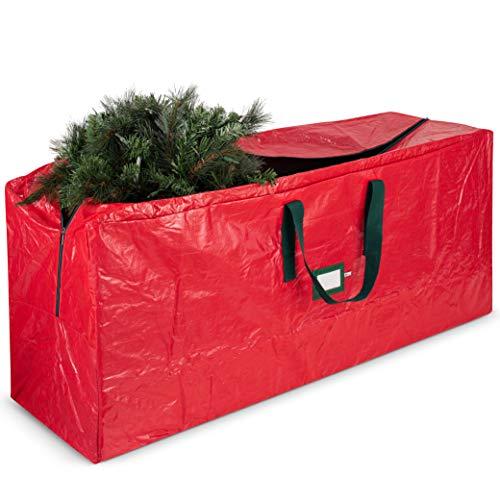 Große Weihnachtsbaum-Aufbewahrungstasche – passend für bis zu 2,7 m hohe künstliche zerlegte Bäume mit robusten verstärkten Griffen und doppeltem Reißverschluss – wasserdichtes Material schützt vor Staub, Feuchtigkeit und Insekten