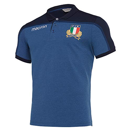 Macron Fir Rugby Italie Official Polo Homme - 58097831 (s)