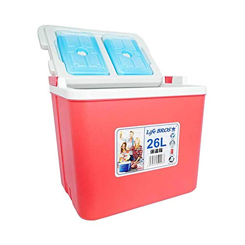 ZAAQ 26L Petit Réfrigérateur Mini Réfrigérateur Portable Refroidisseur De Glace Camping Refroidisseur Réfrigérateur Voiture Incubateur Poisson Règle pour La Pêche Camping,Rouge