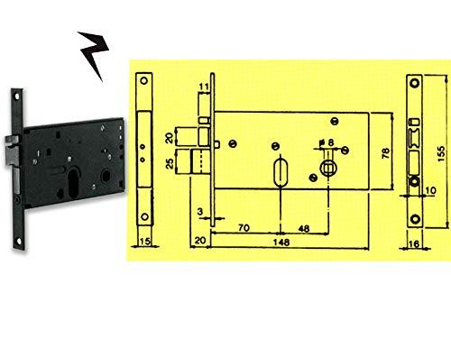 Assa Abloy 47696 Yale 8520070 - Cerradura eléctrica para enhebrar E70, cilindro ovalado