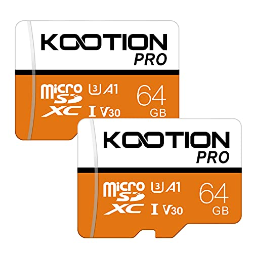 Kootion Micro SD Karte bis zu 80 m/s Ultra Speicherkarte Micro Sdxc Memory Card UHS-I Klass 10, U1, Rot