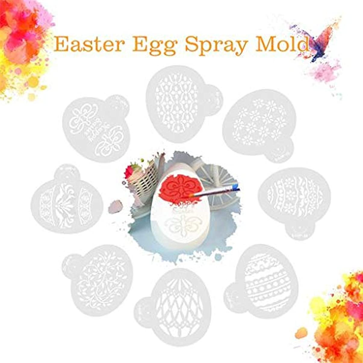 The Best Gift!!! Junshion 8pcs Easter Eggs Cak Tools Cake Stencil Template Spray Coffee Decoration Hand Painted Eggs