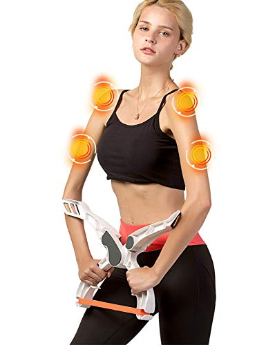 Scarmat Workout Equipment for Home Workouts Arm Machine System Excerise with 3 System Resistance Training Bands Fitness Equipment for Tones Strengthens Arms Biceps Shoulders Chest (Arm Machine)