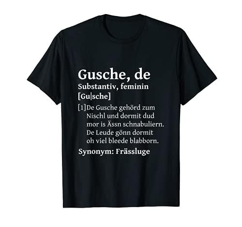 Gusche Mund auf sächsisch lustiges Sachsen Spruch T-Shirt