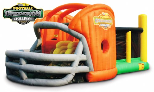 Find Discount KIDWISE Gridiron Football Challenge Gameday Commercial Grade Bounce House - Orange