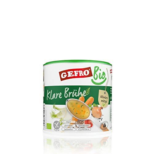 GEFRO BIO Klare Gemüsebrühe als vegane Grundlage für Suppen, Soßen und Eintöpfe (400g)