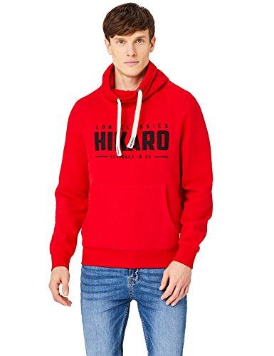 HIKARO Sudadera Hombre, Rojo (Red), 54 (Talla del fabricante: X-Large)
