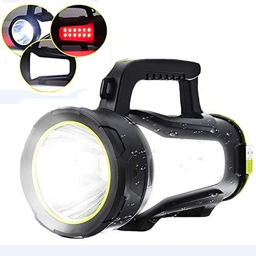 Preisvergleich Produktbild 3500LM High Power LED-Taschenlampe Scheinwerfer Scheinwerfer Taschenlampe Camping-Laterne-Licht Rote und weiße Seitenlicht for Wandern Jagd aycpg