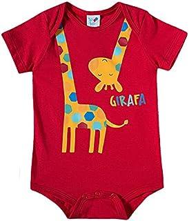 Body Manga Curta Estampa Girafa Zoo Meia Malha TipTop