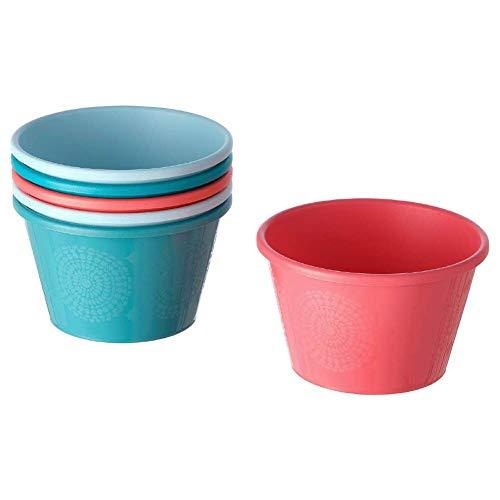 UTEFEST Bowl, mixed colours, 13 cm, Set of 6