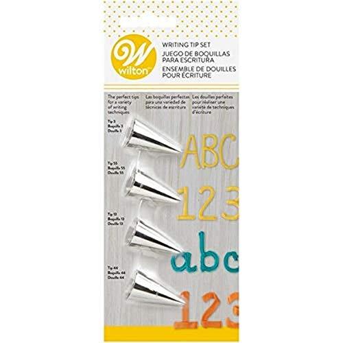 Wilton 418-4566 Set Beccucci Scrittura, Acciaio, Multicolore