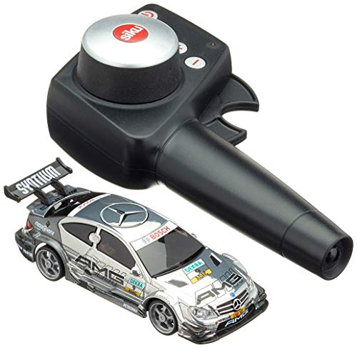SIKU 6824, DTM Mercedes-AMG C-Coupé, Voiture Télécommandée, 1:43, Argenté, métal/plastique, avec module de télécommande et batterie inclus.