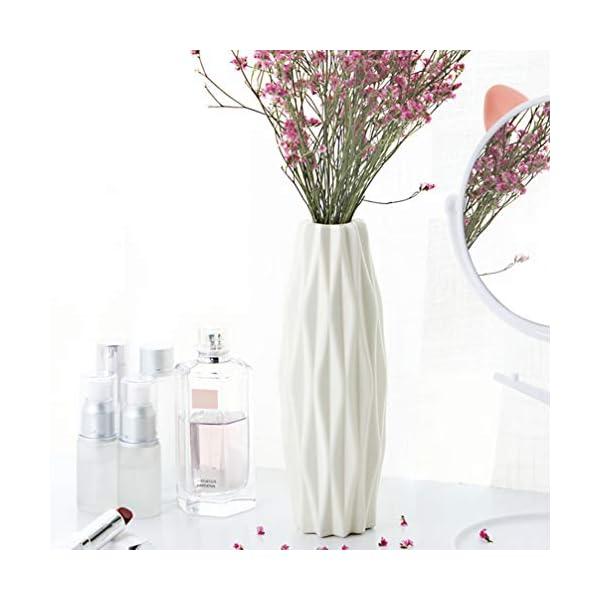 SUPVOX floreros de flores blancas decorativas modernas floreros para decoración del hogar, centros de centro y eventos…
