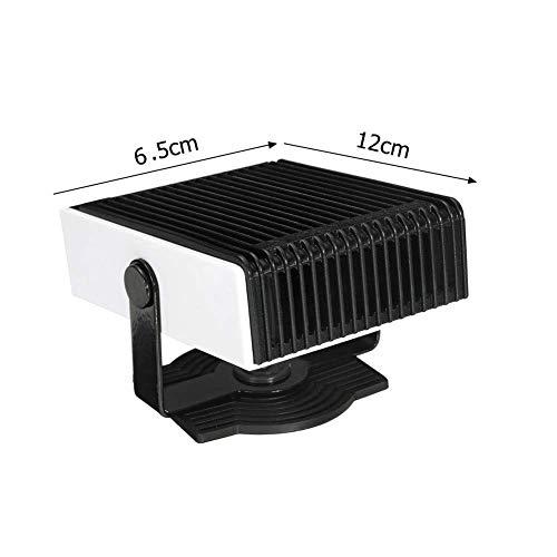 smzzz 150w tragbarer Heizlüfter Abtauungen defogger 12v / 24v Rückspiegel Film Nano-Beschichtung Anti-Wasser Anti-Nebel-Auto-Heizung Lüfter mit Steckern in Zigarettenanzünder 12x6.5 cm