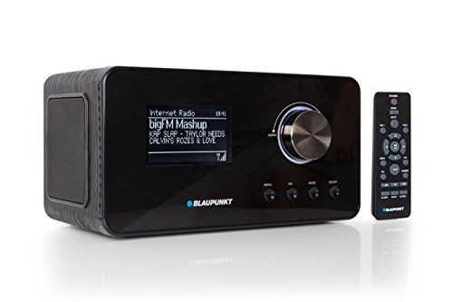 Blaupunkt IRD 30 Internetradio– DAB+-Radio – Digitalradio mit Radiowecker - Wlan Küchenradio– Digital-Radio als Badradio - DAB - UKW-Tuner – Miniradio in Retro-Design – Uhrenradio, Schwarz