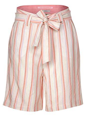Cecil 373151 Shorts Yd Stripe Pantalones Cortos, alabastro Claro Blanco, 26 para...