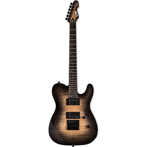 ESP LTD TE-1000 Evertune Guitarra eléctrica, Negro Natural Burst