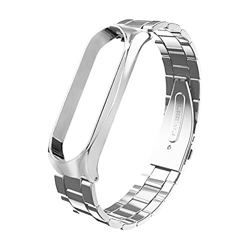 EATAN Correa de metal de repuesto – Correa de acero inoxidable para reloj inteligente Xiao-mi Mi Band 6 Smartwatch correa de muñeca
