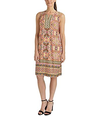 NY Collection Sleeveless Embellished Shift Dress