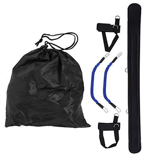 chengong 【Promoción de Fin de año】 Cuerda para Tirar de Fitness, Banda de Resistencia elástica Agradable para la Piel, Negra para Oficina en casa
