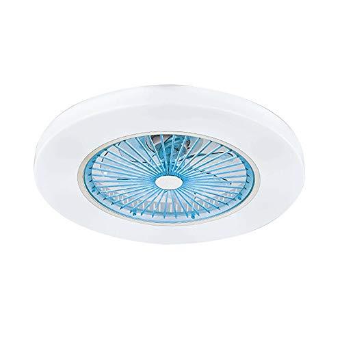 OUPPENG Lámpara de Ventilador Ventiladores de techo Luz con control de aplicaciones o control remoto para sala de estar Dormitorio Decoración Iluminación 110V / 220V Wi-Fi Fan de sueño profundo Lámpar
