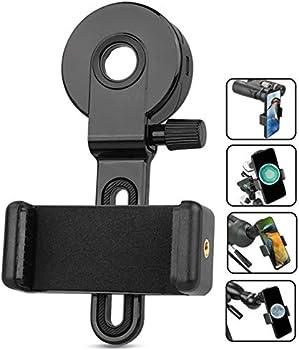 QMEET Telescope Phone Adapter.Telescope Cell Phone Adapter Mount - Universal Compatible Binocular Monocular Spotting Scope Telescope Microscope-Fits Almost All Smartphone on The Market.