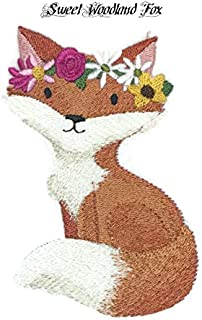 Nature Weaved in Threads, Amazing Sweet Woodland Baby Fox [Custom and Unique] Embroidered Iron on/Sew Patch [4.85