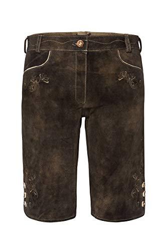 Spieth & Wensky Moser Trachten Damen Lederhose kurz trüffel Tarantel 003121, Material, Größe 34