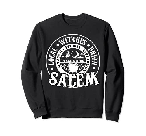 Salem Local Brujas Unión Cielo Sobre la Tierra Est 1692 Halloween Sudadera