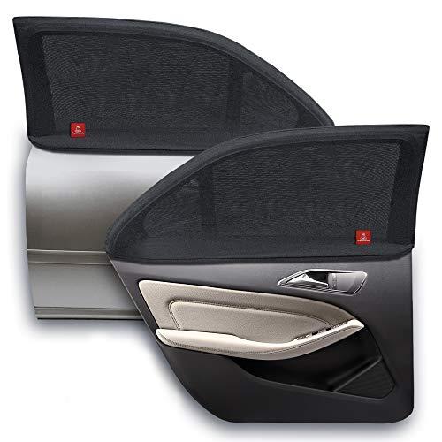 ROYAL RASCALS Chaussette pour vitre x2 - Protection 40+ contre les rayons UV nocifs - Couvre la vitre à 100% - Taille universelle pour toutes les voitures - Anti-éblouissement - Matériel haute qualité