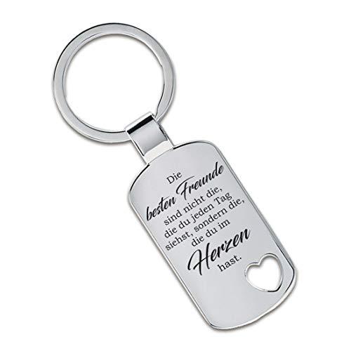 Lieblingsmensch Schlüsselanhänger Modell: Die besten Freunde sind Nicht die, die du jeden Tag siehst ... - Ausgestanztes Herz