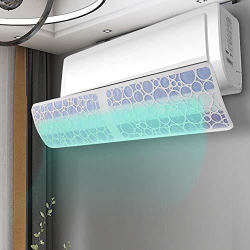 Trihedral-X - Deflettore per condizionatore d'aria per parabrezza, anti-dritto, con assorbimento di carboni attivi, deflettore di scarico dell'aria (colore: 90 cm no filtro)