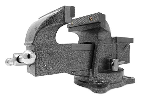 WEN 455BV 5-Inch Heavy Duty Cast Iron Bench Vise with Swivel...