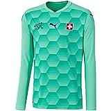 PUMA - Camiseta de Portero de la selección Suiza EM 2020 para niños, Talla N F04, Color Gr n, tamaño 140
