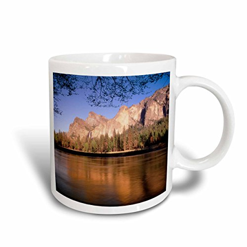 3dRose bridalveil Fall, Kalifornien, in der Yosemite usa-us05 aje0096-adam Jones, Tasse, Keramik, Weiß, 10.16 cm x 7,62 x-Uhr