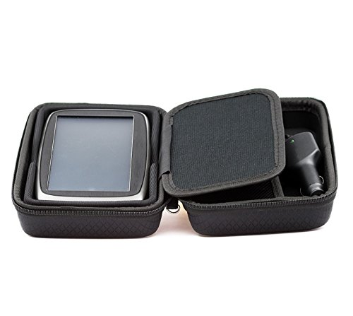 """Digicharge Black Hard Carry Case For TomTom Go Premium 6"""" Basic 6"""" Essential 6 Inch GO 6200 6250 6100 620 610 61 Go CAMPER Go Professional Tom Tom BV Basic 6 Inch With Accessory Storage and Lanyard"""