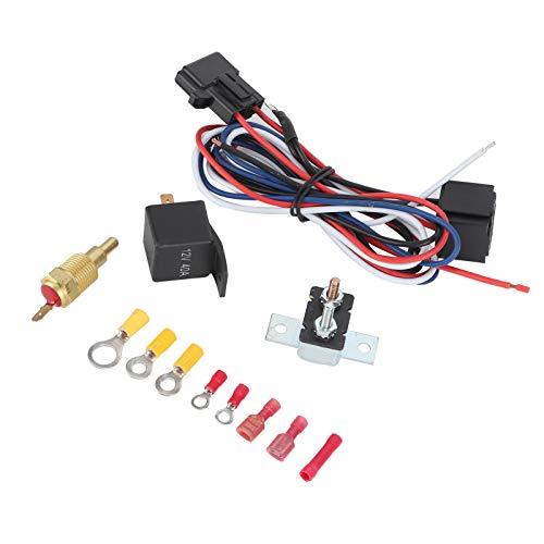 Shipenophy Interruptor de Temperatura Modificado Kit de relé de Ventilador de refrigeración de radiador Profesional Superior para Accesorios de automóvil para su vehículo
