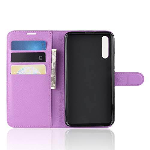 TenYll Hülle für Huawei Honor Magic 2,Wallet Tasche PU Schutzhülle [Premium Leder] [Ultra Slim] [Card Slot] [Ständer] Flip Wallet Hülle Etui für Huawei Honor Magic 2 -Lila