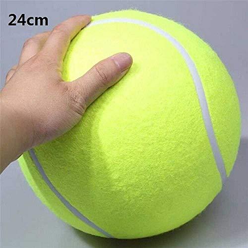 zhuao Hund Großes Spielzeug Tennis, Große Aufblasbare Tennis Pet Dog Interactive Toy, Haustier Outdoor Cricket Toy Supplies 24 cm