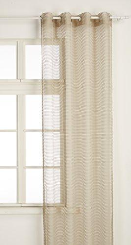 Mendola Home Textiles Tenda a Occhielli, Beige, 140 x 245 cm