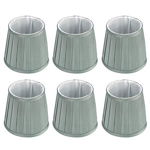 Pantalla, Chacerls Cubierta de lámpara 6 piezas Lámparas de pared para el hogar Cubierta Lámpara de araña Decoración de reemplazo para bombilla E14