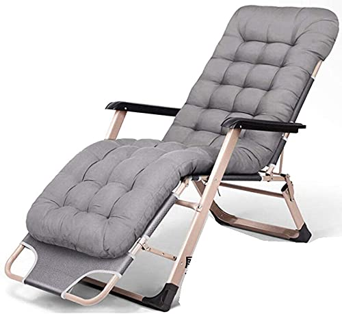 Reclinador de gravedad cero reclinable al aire libre reclinable plegable, silla de gravedad cero plegable patio reclinable ajustable anti gravedad salón sillón Patio plegable regalo sillón reclinable