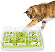ALL FOR PAWS Interactive Puzzle Cat Feeder, Treat Maze Toy for Cats