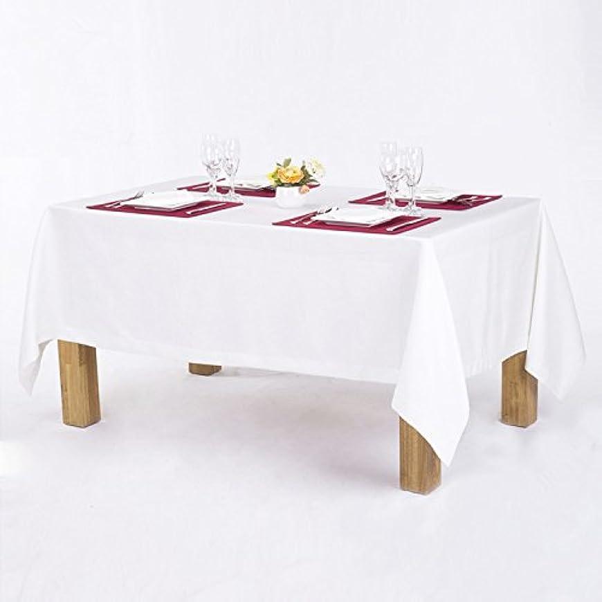 乏しい絶望的な欺くgardenlightess テーブルクロス 無地 白 北欧 130×180cm