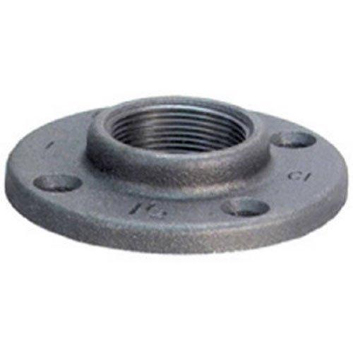 "Anvil 8700164000, Malleable Iron Pipe Fitting, Floor Flange, 1-1/4"" NPT Female, Black Finish"