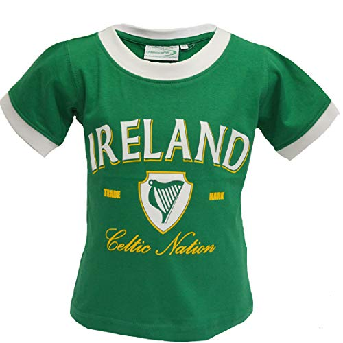 Green Celtic Nation Kid's T-Shirt Green 1-2 Years