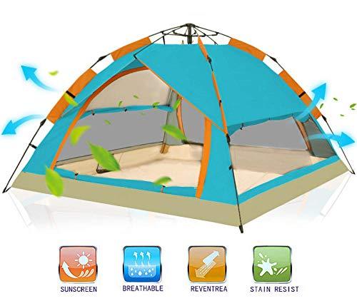 Slakr Carpa De Acampar 3-4 Personas - Carpa De Cabinas Al Aire Libre Totalmente Automática Carpa Portátil Impermeable para Las Vacaciones De La Familia