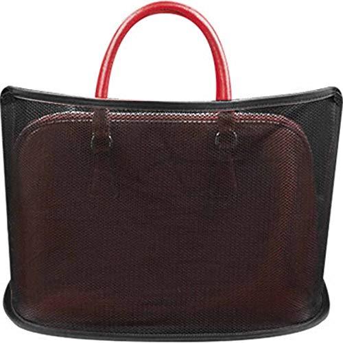 FMJHCW Car Net Bag, Car Net Pocket Handbag Holder, Car Mesh Organizer Seat Back Net Bag, for Handbag Bag Documents Phone Valuable Items (A-Black)